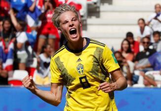 En fotos: la goleada de Suecia a Tailandia para soñar en el Mundial de Fútbol Femenino