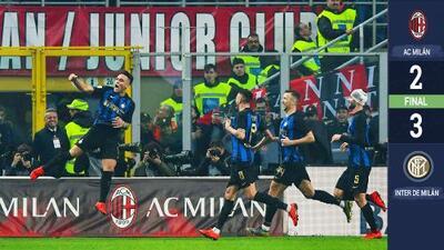 El Inter de Milán resurge y se lleva el derbi de la honra ante el AC Milán
