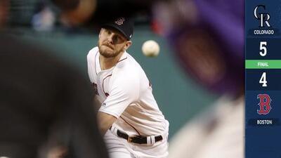 Chris Sale poncha a 17 en 7 entradas, pero los Red Sox caen ante los Rockies