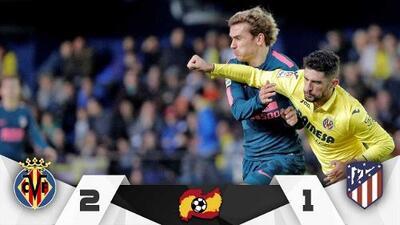 ¡Sonríe el Barcelona! Villarreal remontó y dejó tendido al Atlético de Madrid