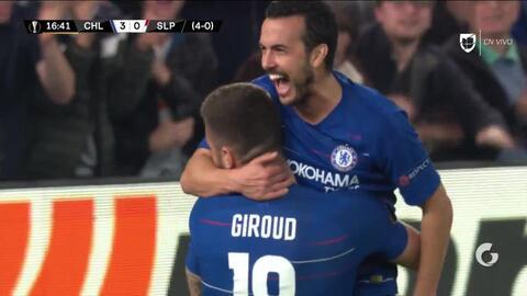 ¡GOOOL! Olivier Giroud anota para Chelsea