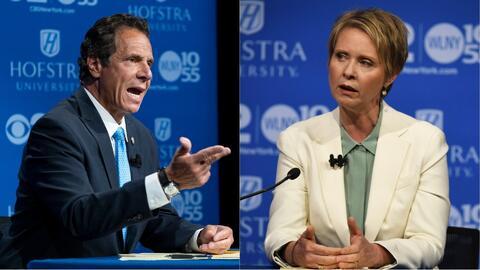 Críticas y ataques entre Andrew Cuomo y Cynthia Nixon en el único debate antes de las primarias