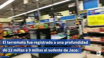En video: como en un supermercado de Costa Rica se sintió el fuerte terremoto