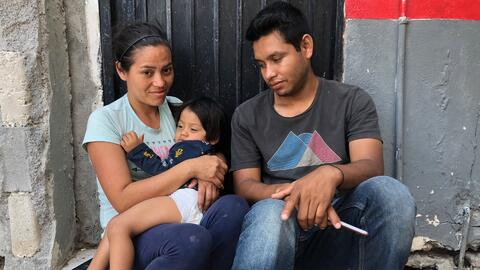 A baby seriously wounded in Nicaragua's political protests is now at the door of the US seeking asylum
