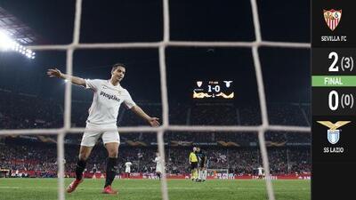 Sin despeinarse, Sevilla eliminó a la Lazio y quiere la sexta Europa League