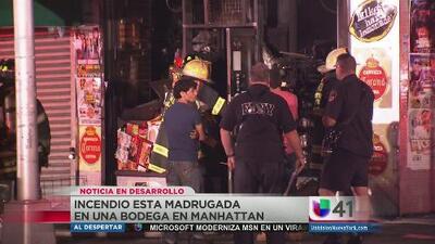 Incendio en una bodega de Manhattan