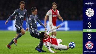 En un verdadero partidazo, Ajax y Bayern empataron en Ámsterdam