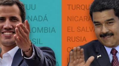¿Cómo están los apoyos a Juan Guaidó y Nicolás Maduro dentro y fuera de Venezuela?