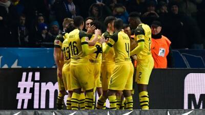 En fotos: un gol de Marco Reus le dio el triunfo agónico al Dortmund ante Hertha