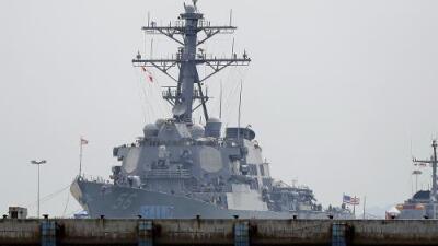 """La Casa Blanca quiso mover el buque USS McCain """"para que Trump no lo viese en Japón"""""""