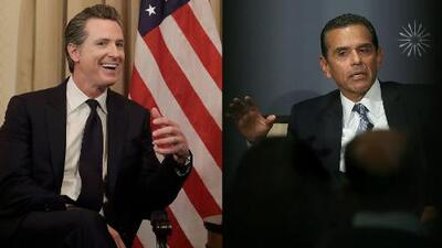 Gavin Newsom puntea en encuesta para la gobernación de California, seguido por Antonio Villaraigosa