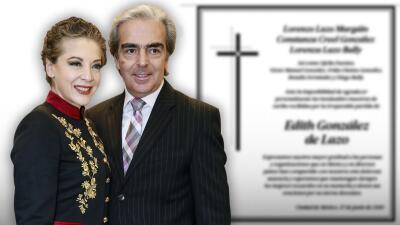 El viudo de Edith González publica agradecimiento y pide orar por el eterno descanso de la actriz