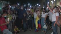 Colombianos en Miami alzan sus voces para pedir por el fin de los actos violentos que se viven en su país