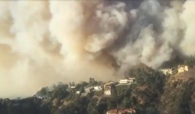 En fotos: propagación del incendio de Chino se debe a las olas de calor en California
