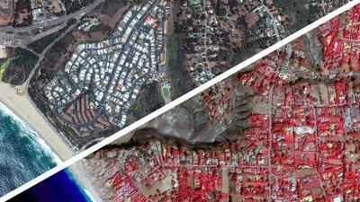 Fotos interactivas: el antes y el después tras los incendios en la exclusiva zona de Malibu