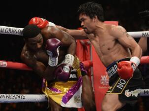 En fotos: Manny Pacquiao dominó a Adrien Broner y retuvo su título en Las Vegas