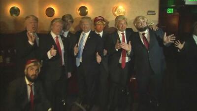Una decena de 'Trumps' compitió para hacerse con el título de mejor imitador del presidente