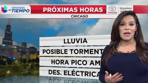 La lluvia regresa y las tormentas podrían aparecer este miércoles en Chicago