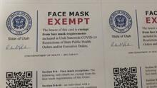 Departamento de Salud de Utah advierte sobre falsedad de trajeta de exención de máscaras