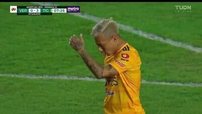 ¡GOOOL! Eduardo Vargas anota para Tigres