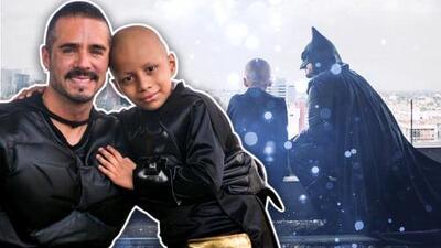 El conmovedor momento en que José Ron, disfrazado, visita a un niño con cáncer que soñaba conocer a Batman