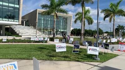 La votación anticipada está de vuelta en los campus de Florida, y los estudiantes le están sacando provecho