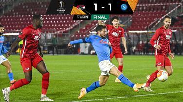 Napoli empata y definirá su calificación en la última jornada