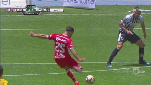¡Goleada! Alexis Canelo marca el 4-1 sobre Monterrey con disparo de larga distancia