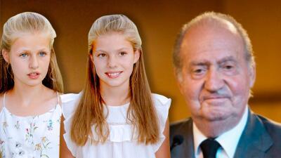 Nietas del rey emérito Juan Carlos ya lo visitaron en el hospital y este fue el regalo que le llevaron