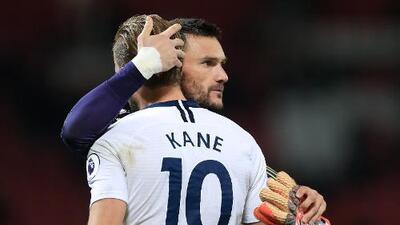 Hugo Lloris espera que la lesión de Kane no sea de gravedad