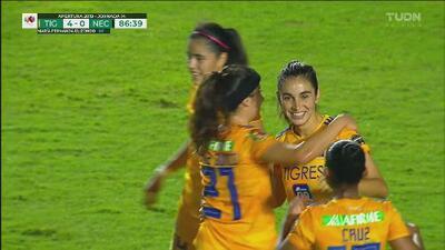 ¡Y llega el cuarto! María Fernanda Elizondo completa la faena de Tigres