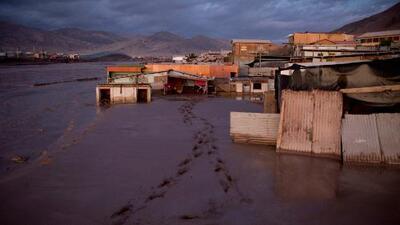 El 80 por ciento de una ciudad en Chile se encuentra enterrada en el lodo