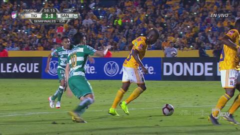 ¡Qué atajada de Jona Orozco, evitando el cuarto de Tigres!