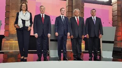 En medio de ataques a López Obrador, candidatos hablaron de sus propuestas en el primer debate presidencial en México