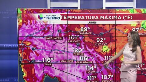 Inicio caluroso de semana en Arizona