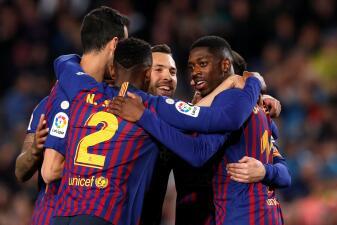 En fotos: Messi no brilló, pero Barcelona vence a la Real Sociedad y dio otro paso al título