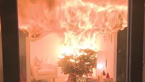 Así puedes evitar que tu árbol de Navidad provoque un incendio
