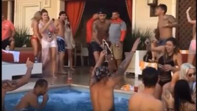Mientras Brasil sufre, Neymar tiene tremenda fiesta en Las Vegas