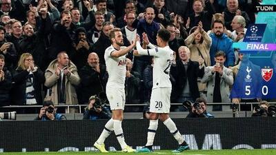 Tottenham se sacó la 'espina' y aplastó al Estrella Roja