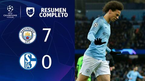 MANCHESTER CITY 7- 0 SCHALKE 04 – GOLES Y RESUMEN – VUELTA OCTAVOS DE FINAL – UEFA Champions League