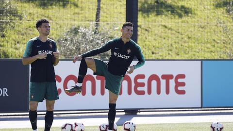 Así fue el regreso de CR7 a los entrenamientos con la Selección de Portugal