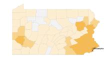 Mapa del coronavirus en Pennsylvania: busca tu condado y entérate de los casos confirmados y fallecidos