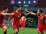 Lewandowski al rescate: Con agónico gol, Polonia empató con Hungría