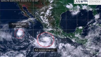 Se forma el huracán Bud en el Pacífico que afectará México y al oeste de EEUU