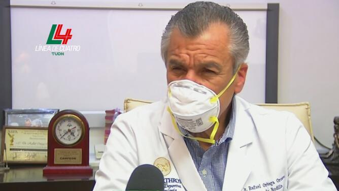 Médico espera que Emanuel Aguilera haga futbol intenso en seis semanas
