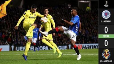 Sin Layún, pero con el Gullit en la grada, Villarreal y Rangers firmaron empate