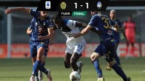 Atalanta empató con Verona y pierde opción de acercarse a la Juventus
