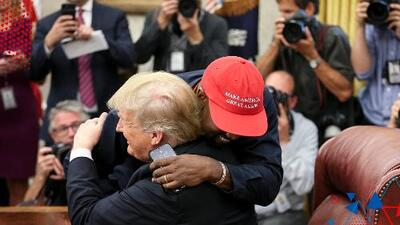 Kanye West vio en Donald Trump una figura paterna