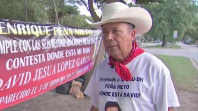 Padre que hace huelga de hambre por la desaparición de su hijo pide ayuda a AMLO