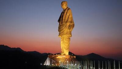 Así luce la estatua más alta del mundo: mide el doble que la de la Libertad en Nueva York